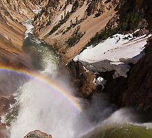 Brink of the Lower Falls of Yellowstone by Trent Sizemore