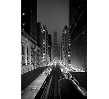 Chicago from the L Train Photographic Print