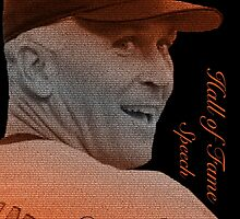 Cal Ripken, Jr. Typography Portrait by canossagraphics