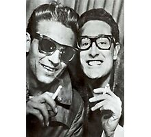 Buddy Holly and Waylon Jennings Photographic Print