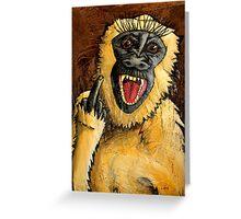 Monkey Bastard Greeting Card