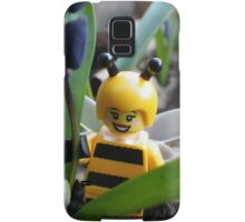 Bumblebee Lady in the Flowers Samsung Galaxy Case/Skin