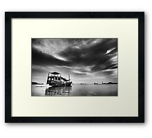 All Quiet in the Harbour Framed Print