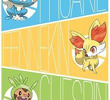 Pokemon XY Starter by gunyuloid