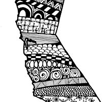 California ZenDoodle by nickolettamay