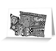 Washington ZenDoodle Greeting Card