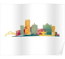 Polygonal Milwaukee | Organic Poster