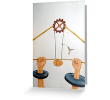The vulnerable part of mechanisms Greeting Card
