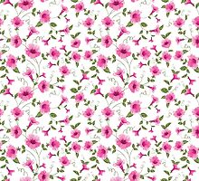 Design of vintage floral card by Kotkoa
