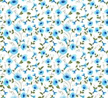 Floral seamless pattern for textile fabric by Kotkoa