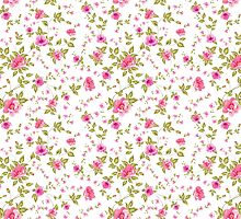 Elegant seamless peony pattern on white background by Kotkoa