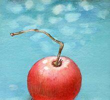 Hand drawn red tomato by Tatsiana Kandrashova