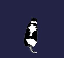 Tuxedo Cat in Navy by marientina