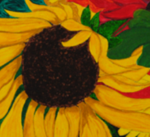 Sunflowers in the Blackness Sticker