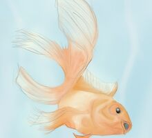 Calm Gold Fish by BRIllustrations
