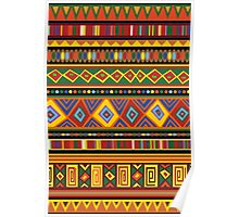Ethnic Colorful Pattern Africa Art Poster