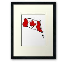 Waving Canadian Flag Framed Print