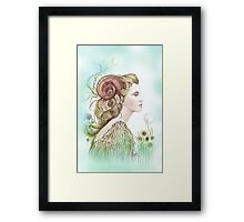 """THE ARIES"" - Protective Angel for Zodiac Sign Framed Print"