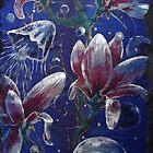 Moonlight Magnolia and Medusozoa by Tilly Campbell-Allen