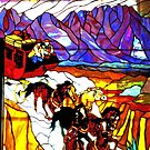 Stained Glass Window of a A Bar by David DeWitt