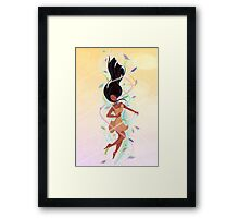 Feel the Colours of the Wind Framed Print