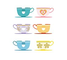 Disneyland Tea Cups Photographic Print