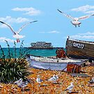 Flight to West Pier by Paula Oakley