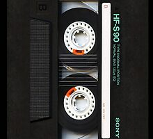 Classic Retro Sony black cassette Tape by Johnny Sunardi