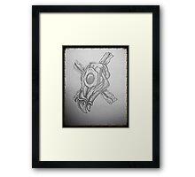 Breakfast skull 1 Framed Print
