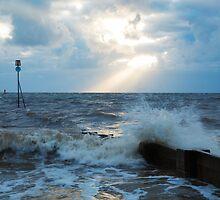 Hunstanton beach at sundown by Ian Middleton