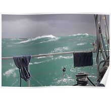 Storm on Tasman Sea Poster