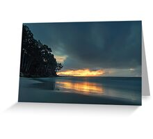 Hansons Beach Sunrise, Bruny Island, Tasmania Greeting Card