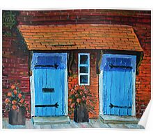 Oil Painting - Blue Doors in the Tower of London. 2012 Poster