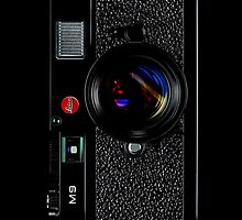 Vintage Classic retro Black leica m9 camera by Johnny Sunardi