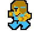 8 Bit Monk by Ryan Bamsey