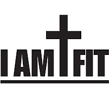 I Am Cross Fit Photographic Print