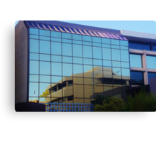 Reflections In A Perth Building Canvas Print