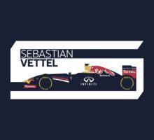 2014 Formula 1 RedBull Sebastian Vettel Race Car T-Shirt