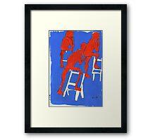 red nudes Framed Print