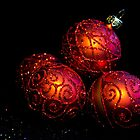 Shiny Christmas Glittered Ornaments - Red  by sitnica
