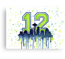 Seattle Seahawks 12th Man Fan Art Canvas Print