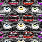Lips and Eyes by E-Chamberlin