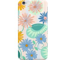 Decorative fantasy flowers and leaves iPhone Case/Skin