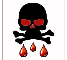 Skull Blood Drops by 420Stickers