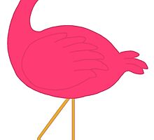 Cute Pink Flamingo by BeachBumFamily