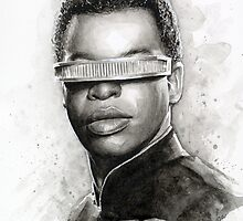 Geordi La Forge Portrait Star Trek Art by OlechkaDesign