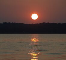 Lewis and Clark Hazy Sunset by cbeers5009