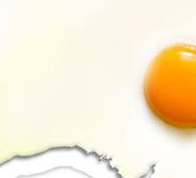 Fried Egg Cartography - Australia 2 Sticker