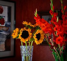 GLADS, SUNFLOWERS, AND MORE by pjm286