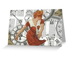 Caught in The Undertow Of Time.. Greeting Card